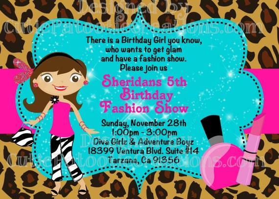 Fashion Show Birthday Invitation Runway Party