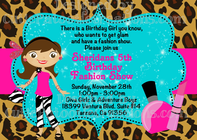 Fashion Show Birthday Invitation Fashion Runway Party