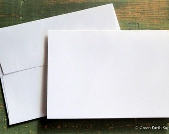 """100 A6 Folded Cards & Envelopes: 4 5/8 x 6 1/4"""" (117 x 159mm), white, ivory, mix-n-match, photo mount cards, eco-friendly, 80lb. / 218gsm."""