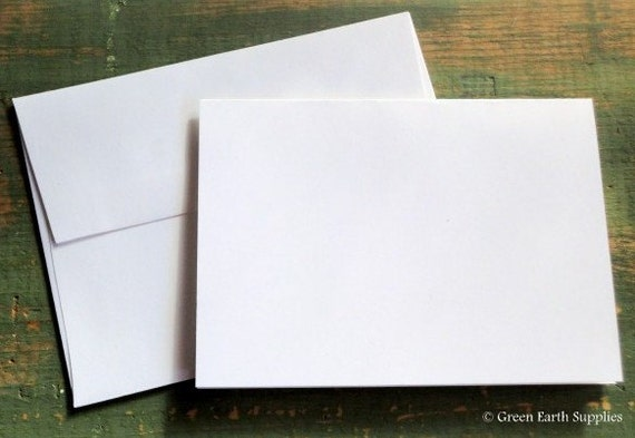 "100 A6 Folded Cards & Envelopes: 4 5/8 x 6 1/4"" (117 x 159mm), white, ivory, mix-n-match, photo mount cards, eco-friendly, 80lb. / 218gsm."