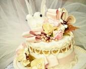 Wedding Cake Mini top hat fascinator, parties, birthdays, photos, showers, weddings, brides, burlesque, costumes