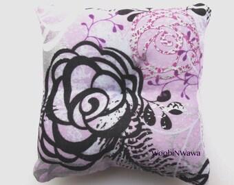 Cotton Sachet- Lavender Scented- Purple Rose/Feather