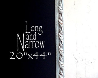 Long Framed Chalkboard Narrow Kitchen Chalkboard Chalk Board Decorative Chalkboard 20 X44 Blue Magnetic