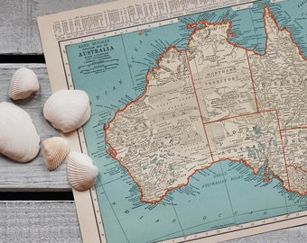 1930s Antique Maps of Australia and Oceania