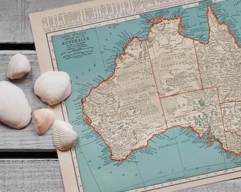1930s Antique Maps of Australia and Oceania