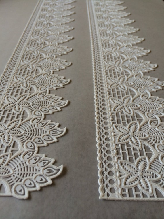 Cake Decorating With Edible Lace : Cake Lace Edible Lace Sugar Lace Gatsby Wedding Antique