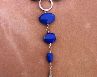 Lapis and Kyanite Drop Necklace
