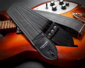 Grey Luggage Guitar Strap - Vegan