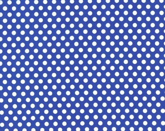 Cobalt Kiss Dots - Michael Miller Fabrics