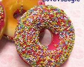 1 XHuge Chunky Donut Soft Plastic Pendant.18