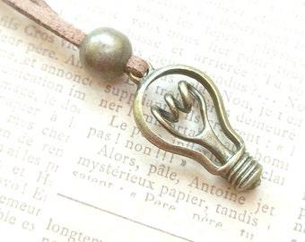 Lightbulb Necklace - Vintage Style Necklace, Lightbulb Pendant  Jewelry