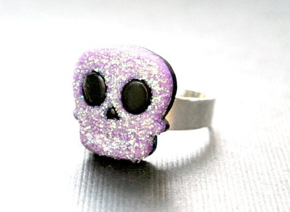 Purple Skull Ring,Halloween Jewelry, Teen Jewelry, Halloween Skulls Rings, Purple Ring, Halloween Gift, Halloween Ring