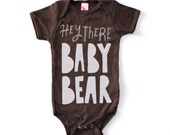 Baby Bear Printed Onesie, Baby Clothing, Gift For Baby, Screenprint Baby, Children Clothing, Gift for Baby, Bear Illustration, Hipster Baby