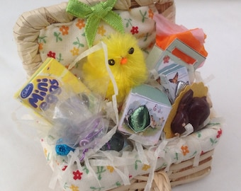 Dolls House Miniatures - 1/12th Easter Hamper