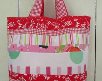 Market Tote, Grocery Tote, Overnight Tote, Carry All Tote, Fully Lined with Interior Pocket by Dreamy Vintage Sheets