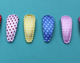 Baby Snap Clips - 30mm - Polka Dots Gift Set - Baby, Infant, Toddlers
