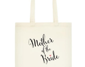 Mother of the Bride Wedding Tote Bag, Mother's Day Gifts for Mom