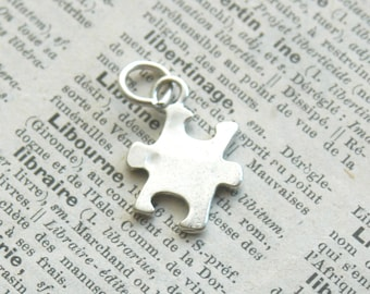 Sterling Silver Puzzle Piece Charm - Best Friends Or Autism Awareness - Add On For Design Your Own By Inspired Jewelry Designs