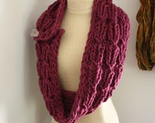 Knitting Pattern / Cowl Wrap Chunky Oversized / Chaine / PDF Digital Delivery
