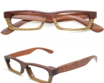 LOVE-WOOD two-tone rosewood TAKEMOTO glasses frame only one