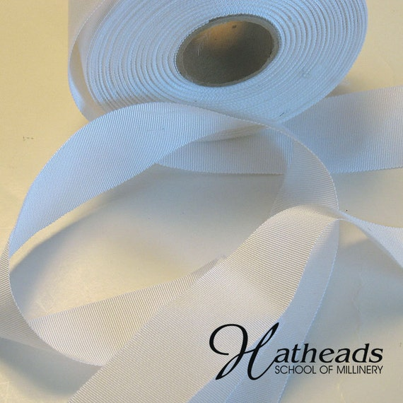 5 yards of white 11/2 inch millinery grosgrain ribbon