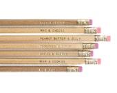 70 Engraved 'Me & You' Pencils - 10 sets - Loose