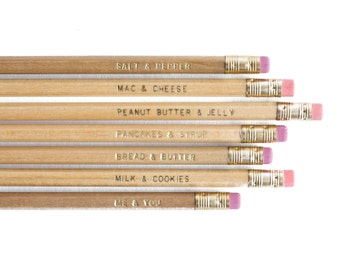 70 Engraved 'Me & You' Pencils - 10 sets - Loose