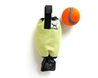 Poop Bag Dispenser Leash Bag  - Eco Friendly, Recycle Your Plastic Bags - Pale mint green
