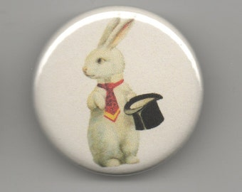 Magic Bunny 1.25 inch BUTTON/PIN/BADGE Vintage  Image