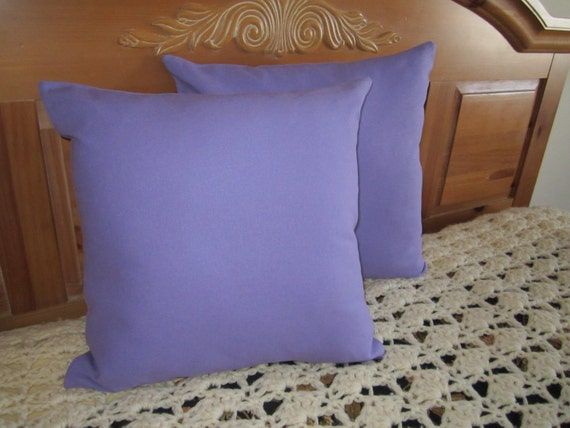 Linen Pillow Covers - Linen Cushion Covers - Lavender Lavendar Linen - 16 Inch