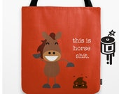 This is Horse Poop MATURE - Funny Happy Tote Bag - Roller Derby Love Tote
