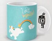 Unicorn Crapping Magic MATURE Coffee mug Unicorn Artwork by Lucy Dynamite