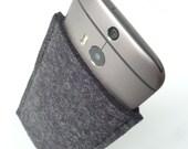 HTC One (M8)  - Charcoal Wool Felt Sleeve