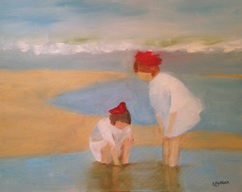 BEACH FINDS - 11 x 14 inch oil on panel