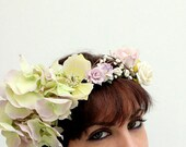 OISIN - Floral Wreath - Flower crown Photo prop head band, bridal Hair flower accessory Hippie Headband wedding halo - OISIN