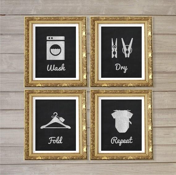 Home Design Ideas Blackboard: Laundry Room Faux Blackboard Chalk Wall Art Printable 8x10