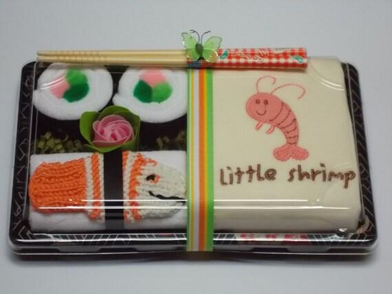 Little Shrimp Sushi Baby & Organic Bodysuit Combo Baby Shower Gift Set