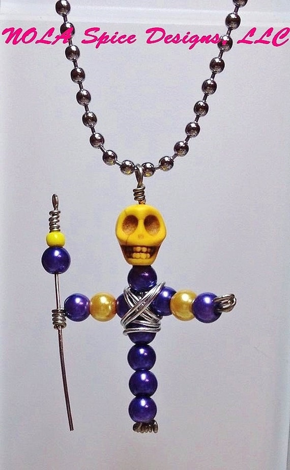 items similar to voodoo dat we do new orleans bead doll