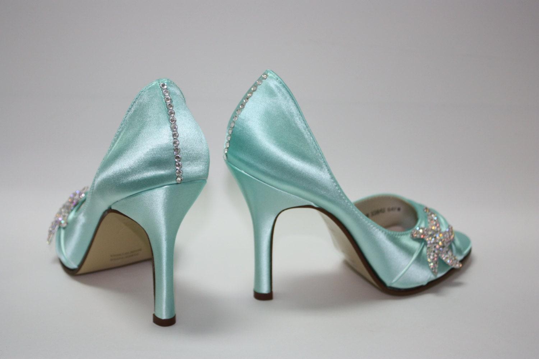 wedding starfish shoes beach aqua blue beach wedding shoes zoom