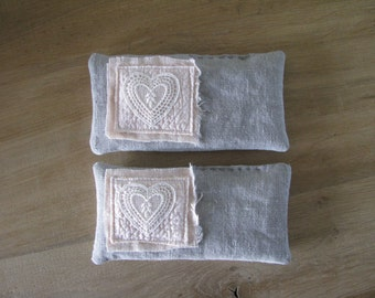 shabby lavender pillows - linen shabby blush pink sweet lavender sachets - mothersday gift - aromatherapy - eye pillows