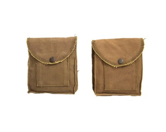 2 WWII Italian Pouches