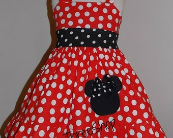 Minnie mouse Dress Custom Boutique Clothing  Red  Sassy Girl