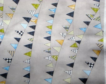SALE : Reunion pennants gray moda fabric Sweetwater FQ or more