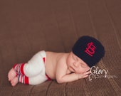 Baby Boy baseball set, cap and pants, newborn photo prop