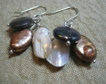 Luxe fresh water pearl earrings