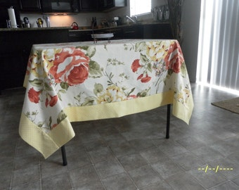 Banded Summer Tablecloth