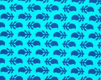 Paisley Fabric - Paisley Indian Motif Print  - 1 yard ctbl002