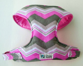 Chevron Comfort Soft Dog Harness. - Made to order -