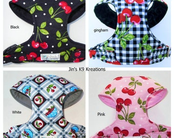 Cherry Comfort Soft Dog Harness -Made to order -