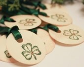St. Patrick's Day Tags (Double Layered) - Shamrock Tags - Clover Tags - Vintage Inspired St Patrick's Day Tags - Irish Gift Tags - Set of 8